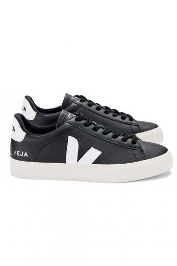 VEJA Campo Chromefree Leather Black White