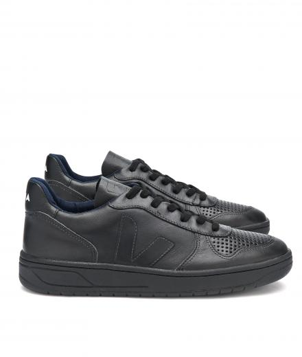VEJA V10 Leather Black Black