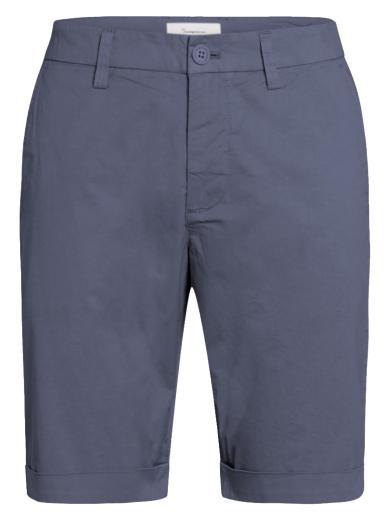 Knowledge Cotton Apparel Chuck regular chino poplin shorts Vintage Indigo