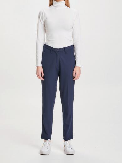 Knowledge Cotton Apparel WILLOW Pinstripe Chino Pants total eclipse