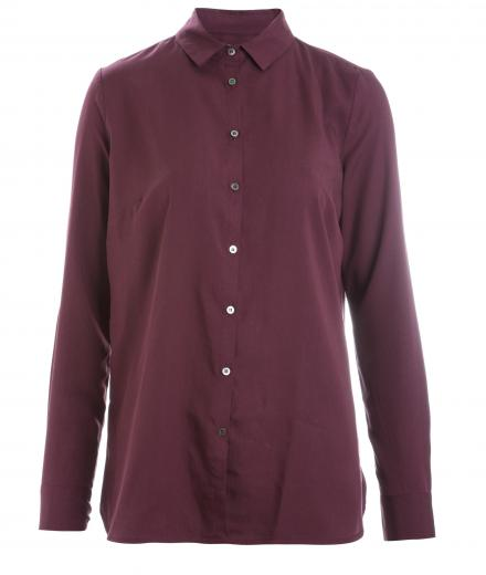 wunderwerk Tencel Crewneck Blouse deep wine | XS