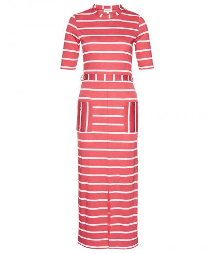ARMEDANGELS Tonia Watercolor Stripes mineral red-off white