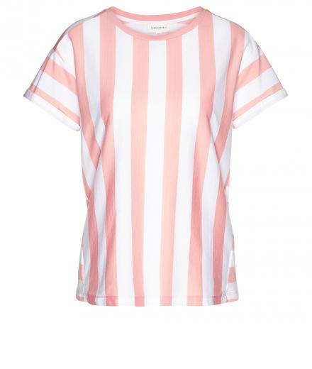 ARMEDANGELS Ronja Block Stripes blossom pink-white | S