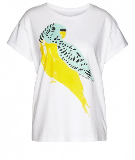 ARMEDANGELS Nela Love Bird white-vibrant yellow | M
