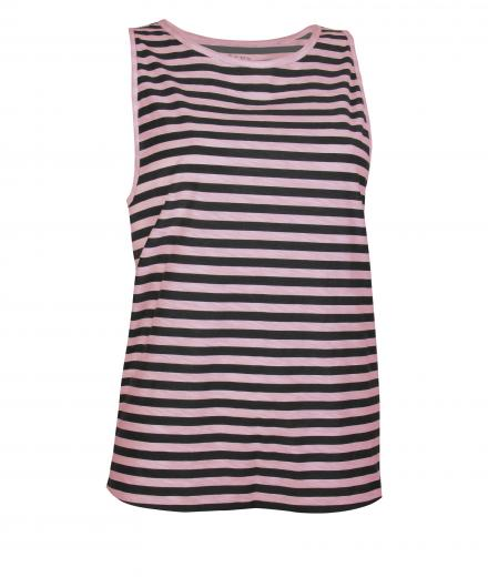 OGNX Yoga T-Shirt Muscle Shirt Striped S | White Natural Black