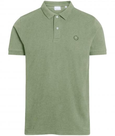 Knowledge Cotton Apparel ROWAN basic polo Green melange