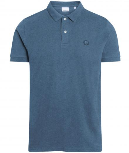 Knowledge Cotton Apparel ROWAN basic polo Insigna Blue melange