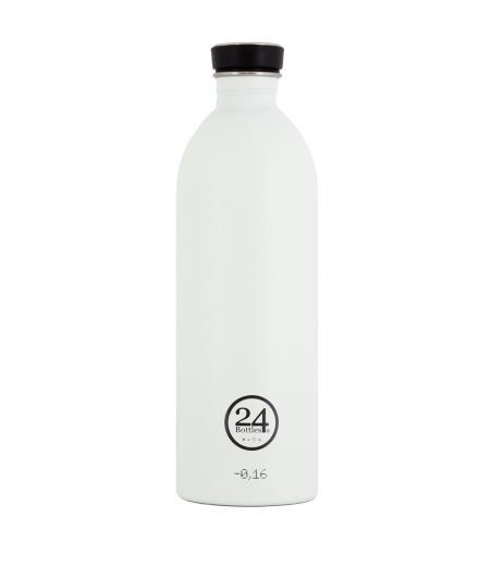 24Bottles Trinkflasche 1,0 Liter ice white