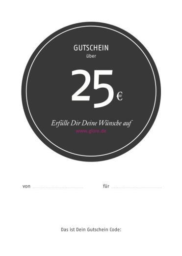 Glore Geschenkgutschein 25 Euro
