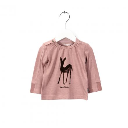 IMPS&ELFS T-Shirt Long Sleeve Earth Pink