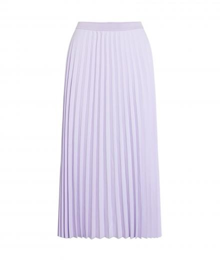 Knowledge Cotton Apparel Daffodil pleated midi skirt Pastel Lilac