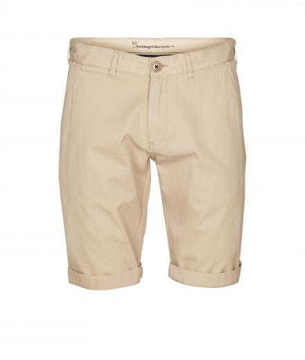 Knowledge Cotton Apparel Twisted Twill Shorts Light feather gray | 31