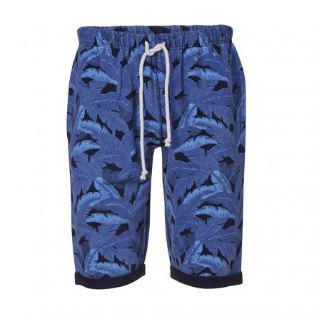 Knowledge Cotton Apparel Sweat Shorts W/Palm Print GOTS