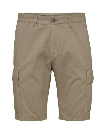 Knowledge Cotton Apparel Cargo shorts Light feather gray | 33