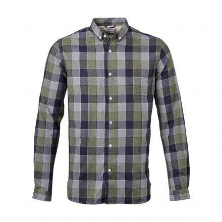 Knowledge Cotton Apparel Checked Light Flannel Shirt GOTS