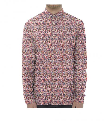Knowledge Cotton Apparel Flower Printed Shirt 1234 malaga | M
