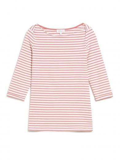 ARMEDANGELS Dalenaa Stripes off white-cinnamon rose