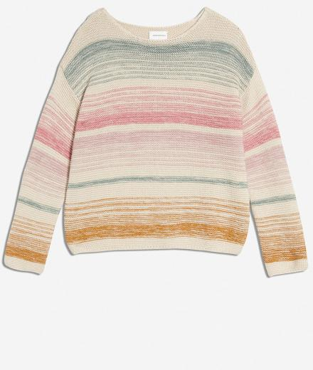 ARMEDANGELS Konaa Stripes sandshell-pale | XS