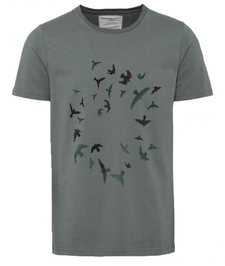 ARMEDANGELS James Circle Birds Graphite Green | L