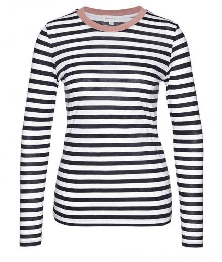 ARMEDANGELS Lara Bold Stripes dark navy white | M