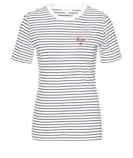 ARMEDANGELS Lida Bisou On Stripes navy-white | M