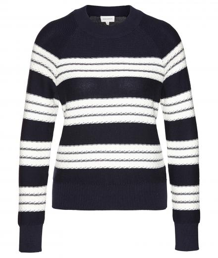 ARMEDANGELS Midori Stripes navy-off white | S