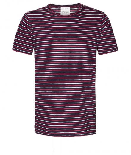 ARMEDANGELS Milo Multistripes port red