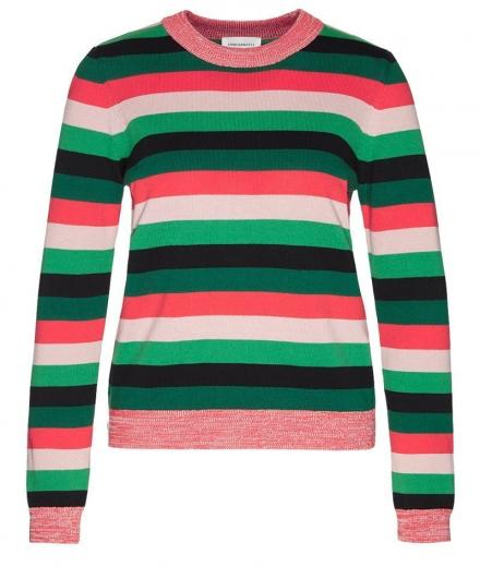 ARMEDANGELS Oxanaa Multi Stripes garden green | M