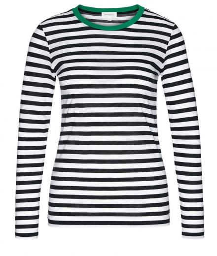 ARMEDANGELS Lara Bold Stripes green_black_white | S