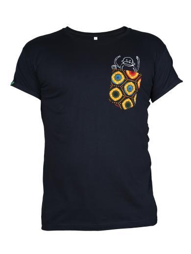 Kipepeo Clothing Taschentierchen Taschen-Affe Herren Schwarz
