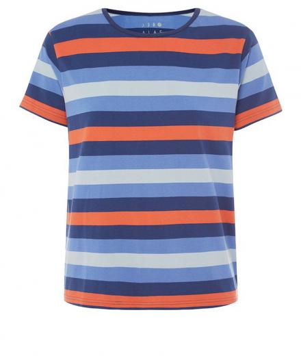 ALAS Stripe Basic Tee L