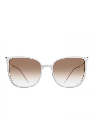 weareannu Cateye 02 L Light Grey / Brown Gradient / Gold