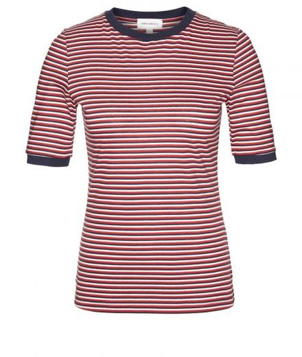 ARMEDANGELS Emma Triple Stripes M | scarlet red-dark navy-off white