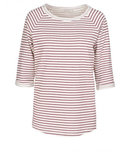 ARMEDANGELS Elisa Stripes off white Off white bordeaux | XS