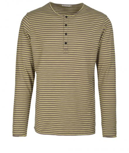 ARMEDANGELS Harry Stripes Olive-Golden Olive | M