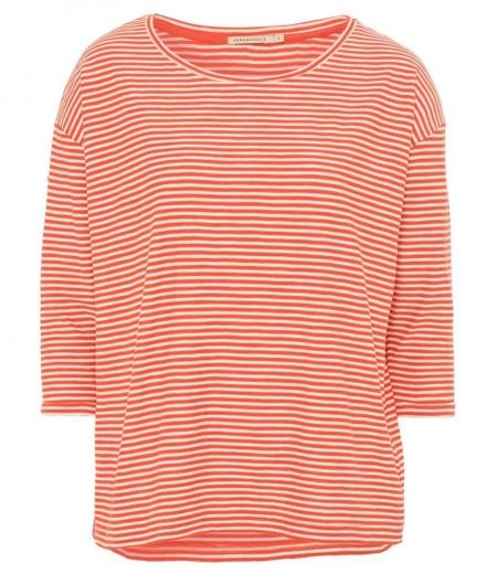 ARMEDANGELS Johanna Small Stripes apple red-off white | M