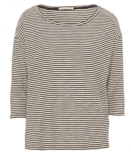 ARMEDANGELS Johanna Small Stripes off white navy | S