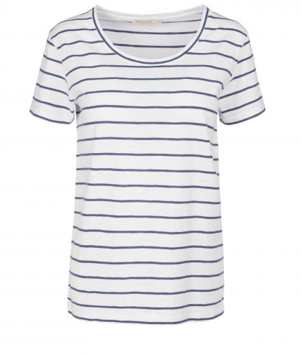 ARMEDANGELS Josi Stripes off white navy | S