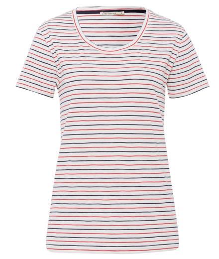 ARMEDANGELS Josi Twin Stripes navy-apple-red | L