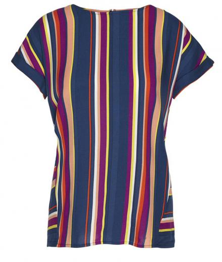 ARMEDANGELS Lioraa Multicolor Stripes dark navy-carrot | S