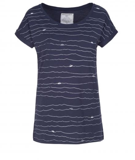 ARMEDANGELS Liv Paper Boats navy | S