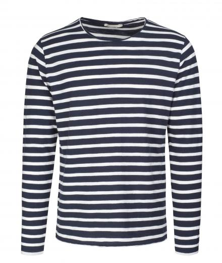 ARMEDANGELS Adrian Stripes navy-off white | M