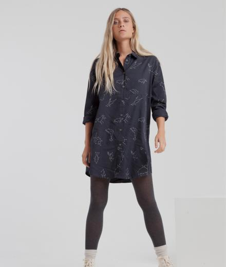 Thinking MU Animal Zoodiak Amanda Shirty Dress XS