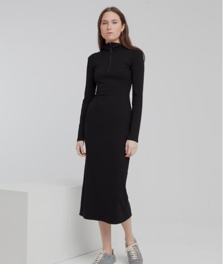 Thinking MU Lin Neck Dress black
