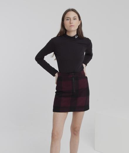 Thinking MU Mary Short Skirt wine checks