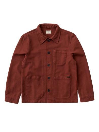 NUDIE JEANS Barney Worker Jacket Brick red