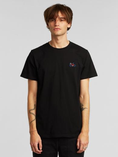 DEDICATED T-Shirt Stockholm Stitch Bike Black