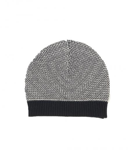 FRIEDA SAND Carmen Organic Cotton Knit Hat Jarquard black