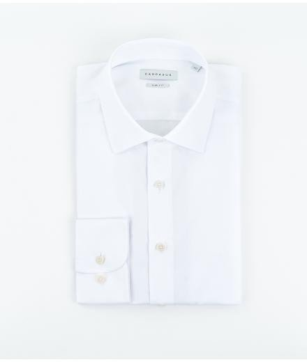 CARPASUS Hemd Classic Slim Fit weiss