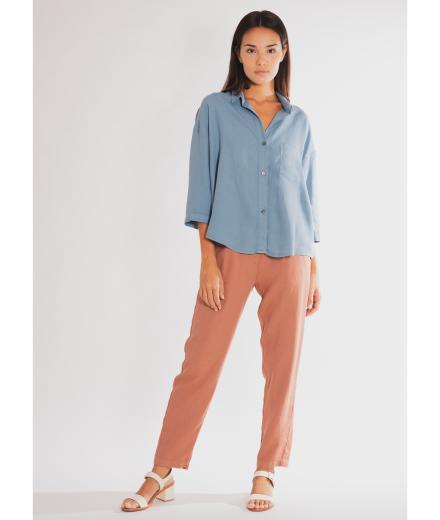 CUS Alessa Crêpe Shirt Azure   S